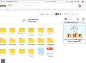 Yandex Disk Kullanımı